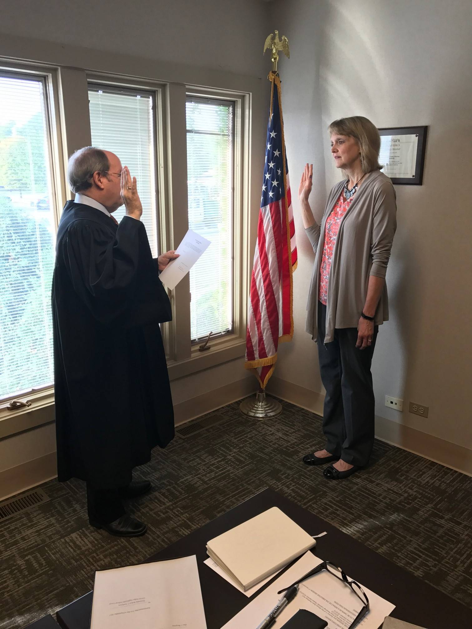 Dru J. Bergman Oath of Office as new Commissioner