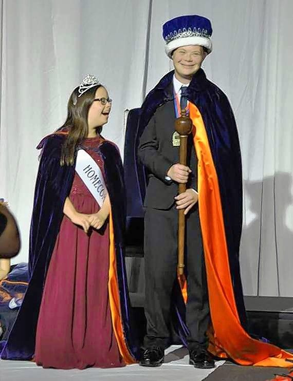 Buffalo Grove High School crowned its homecoming queen and king, Amanda Ewald and Brett Wilkinson.  Both have Down syndrome.
