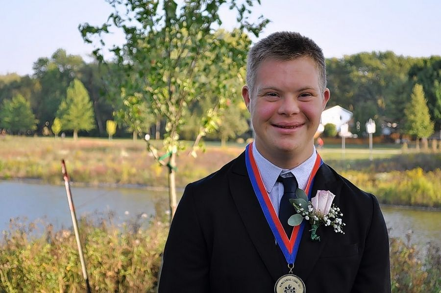 Buffalo Grove High School senior Brett Wilkinson, who has Down syndrome, was crowned homecoming king.
