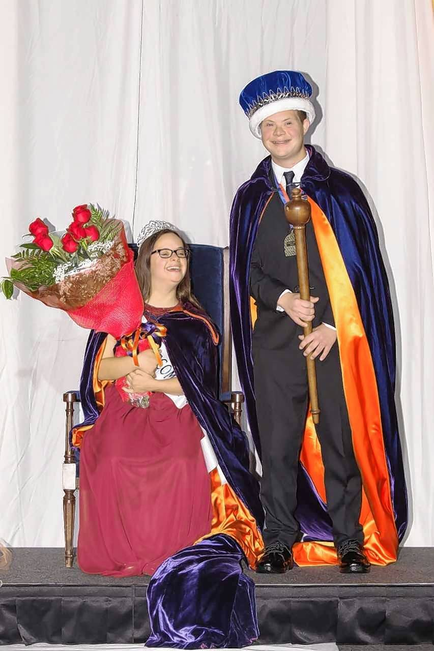 Amanda Ewald and Brett Wilkinson were crowned homecoming queen and king at Buffalo High School. Both have Down syndrome.