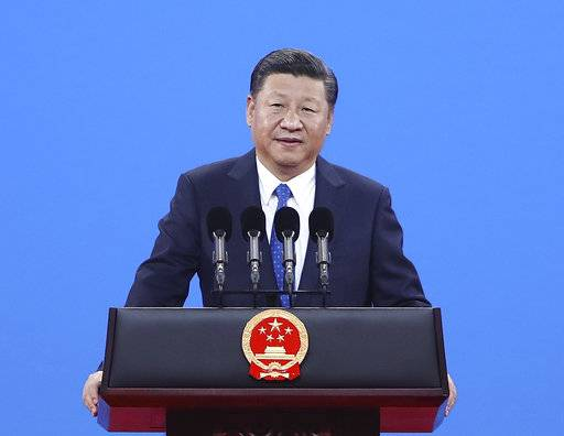 Chinese President Xi Jinping speaks during the 86th Interpol General Assembly at Beijing National Convention Center in Beijing, Tuesday, Sept. 26, 2017. (Lintao Zhang/Pool Photo via AP)