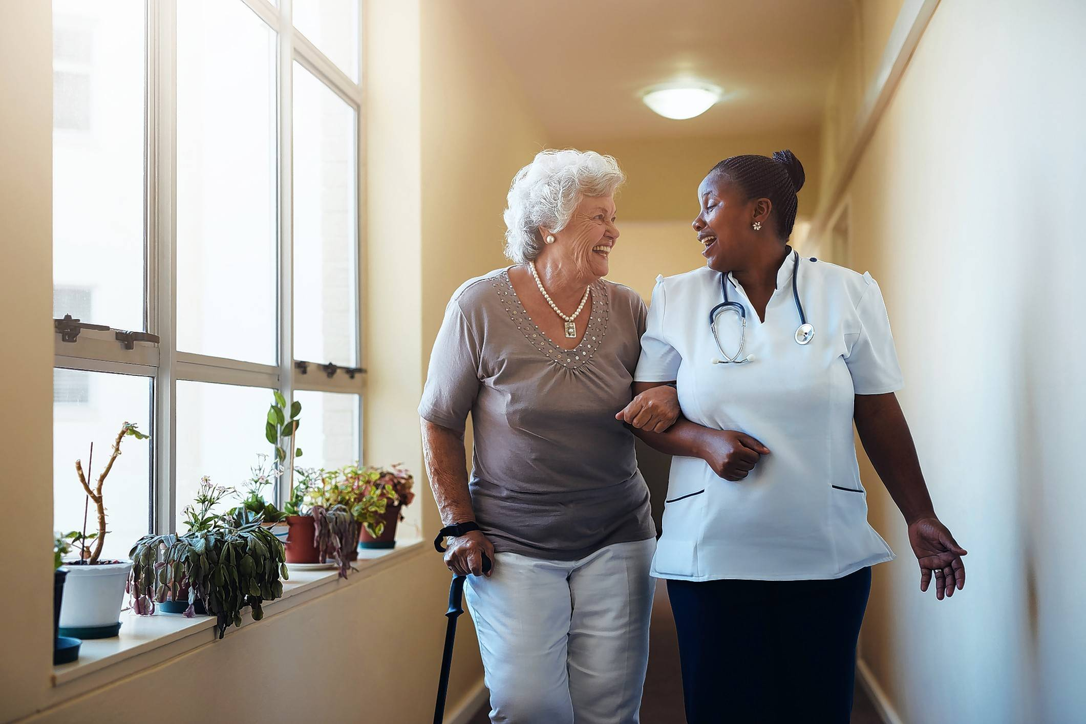 Life plan communities, such as The Moorings of Arlington Heights, offer residents the freedom and social connections of independent living, even after moving into the assisted-living area.