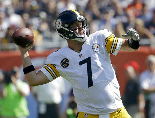 Pittsburgh Steelers Quarterback Ben Roethlisberger 7 Throws During The First Half Of An NFL