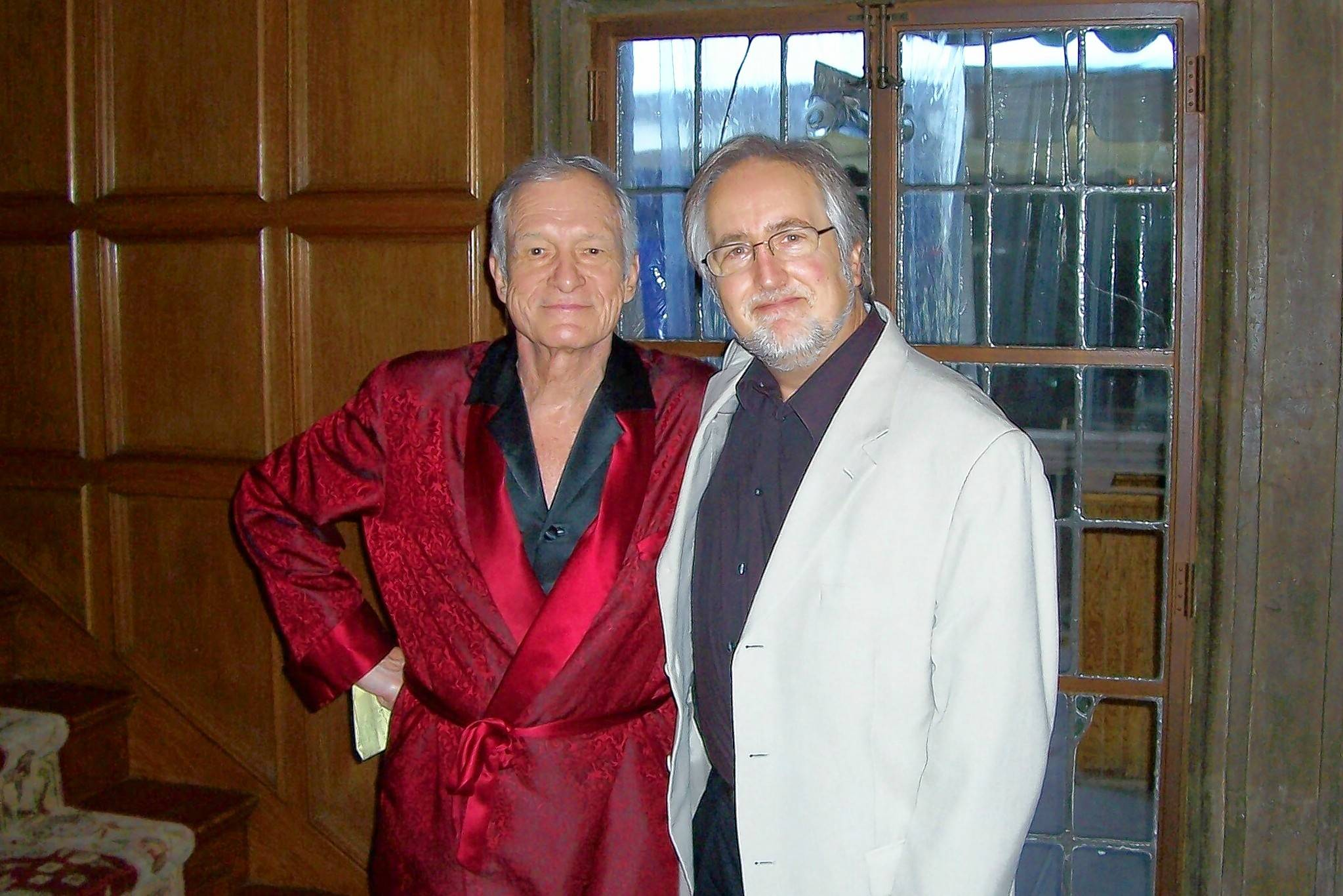 Hugh Hefner and James Bond novelist Raymond Benson of Buffalo Grove bonded over their interest in Ian Fleming's 007 for more two decades. They are in the Playboy Mansion West in this 2010 photograph.