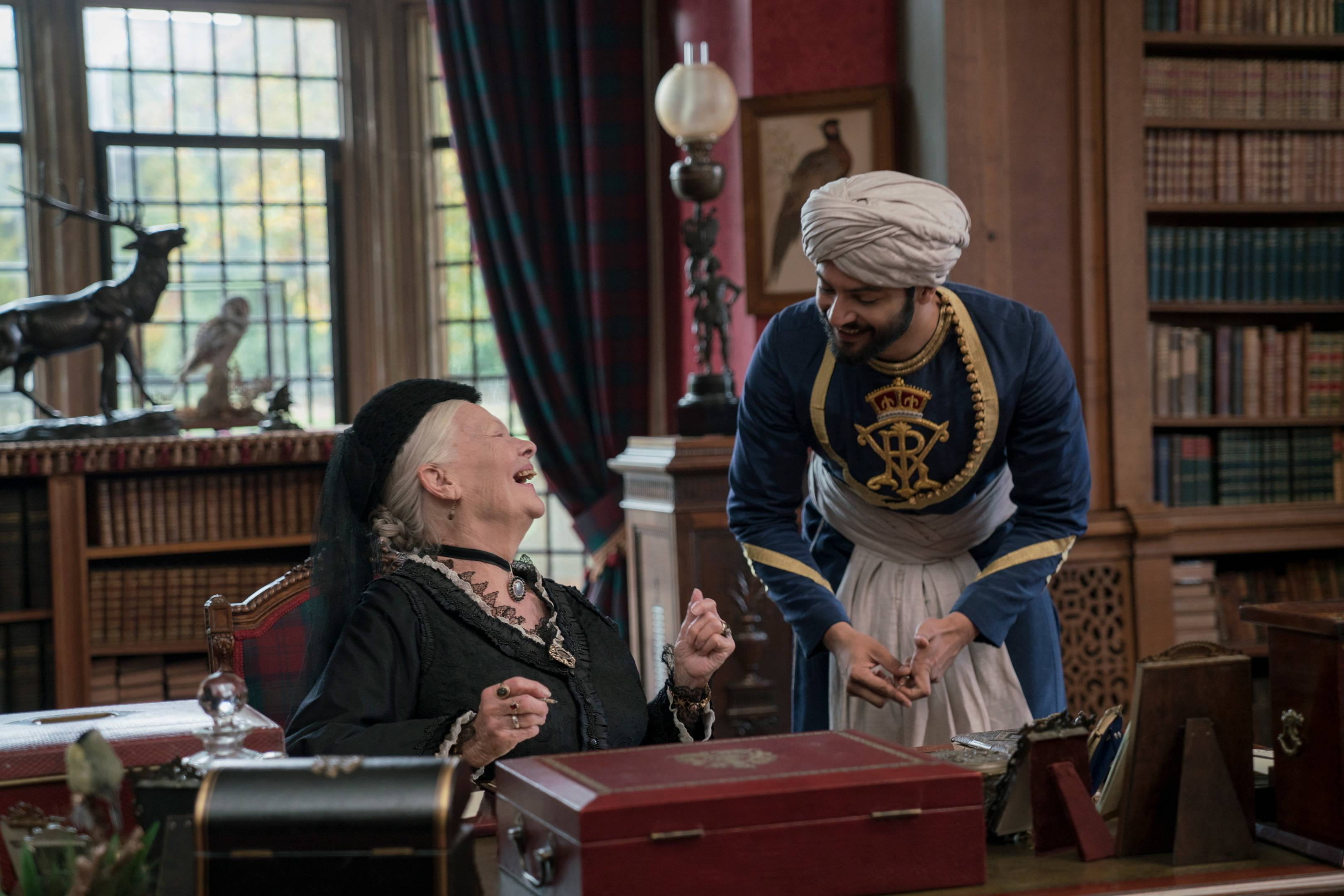 "British actress Judi Dench and Bollywood star Ali Fazal play the title characters in ""Victoria & Abdul,"" a historically based tale."