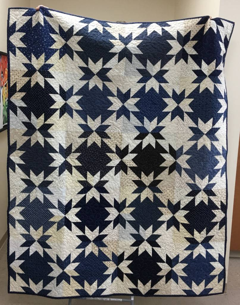 This 77-inch x 62 inch quilt made by the ladies of The Holmstad is the featured raffle of the day at The Holmstad's 40th Annual Bazaar, which takes place from 9 a.m. to 3 p.m. Saturday, Sept. 30 at the Batavia retirement community.
