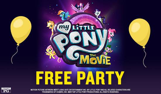 "Free ""My Little Pony: The Movie"" Kids' Parties at Marcus Theatres Marcus Theatres"