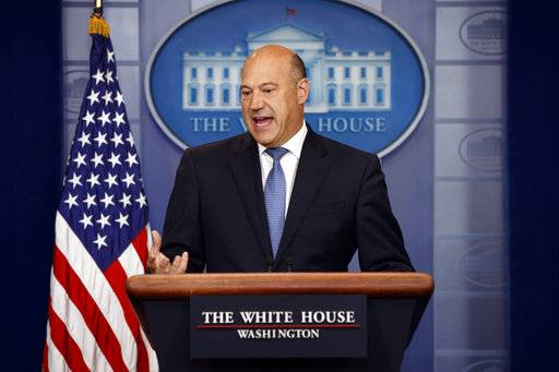 White House chief economic adviser Gary Cohn speaks during the daily press briefing, Thursday, Sept. 28, 2017, in Washington.