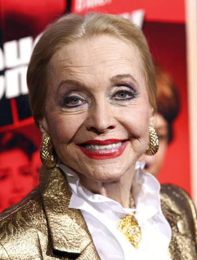 "FILE - In this Nov. 20, 2012 file photo, actress Anne Jeffreys attends the premiere of ""Hitchcock"" in Beverly Hills, Calif.  Jeffreys, an actress and opera singer who starred as Marion Kerby in the 1950s TV series ""Topper,"" died, Wednesday, Sept. 27, 2017, at age 94. (Photo by Matt Sayles/Invision/AP, File)"