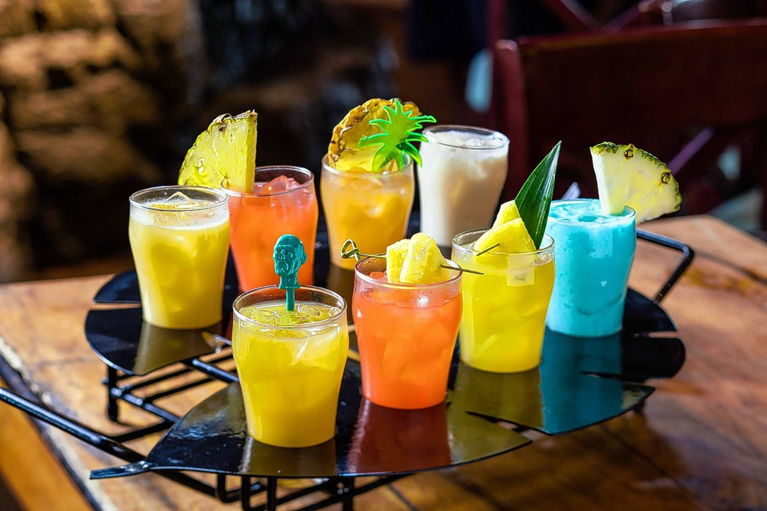 Bahama Breeze celebrates Rumtoberfest with the Rum Raid — a flight of eight rum-based cocktails for parties of two or more to share.