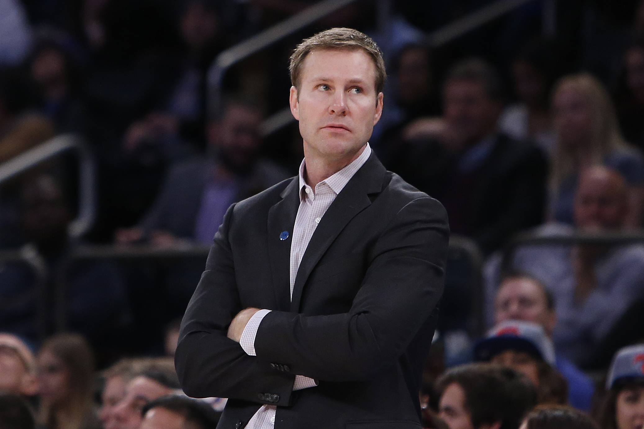 Chicago Bulls coach Fred Hoiberg says he doesn't missing the recruiting that goes with college basketball.