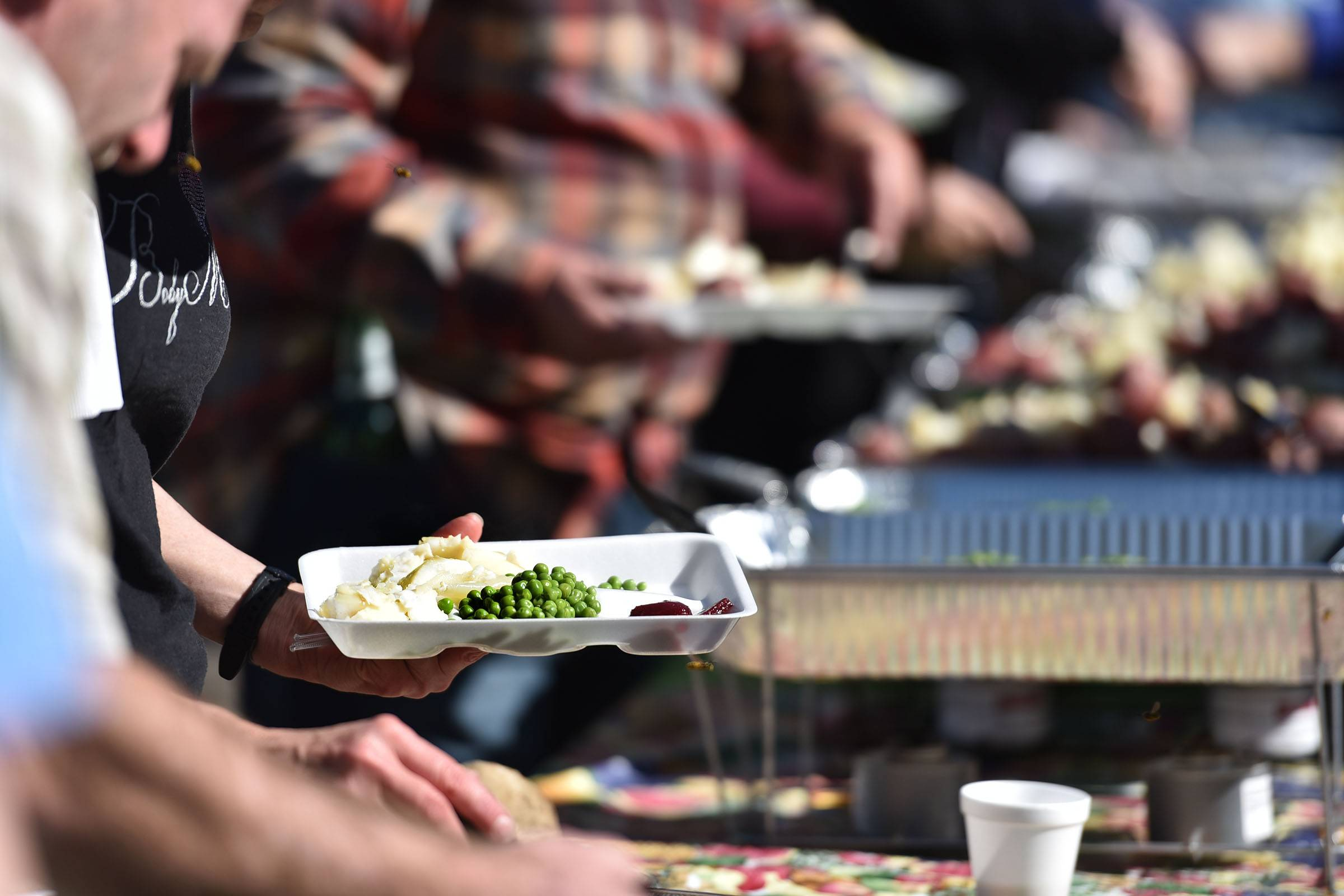 More than 90 people registered for a meal of Icelandic cod, boiled in onions and potatoes, and vegetables and dill sauce, the 17th Fish Boil at Vasa Park in South Elgin Saturday.