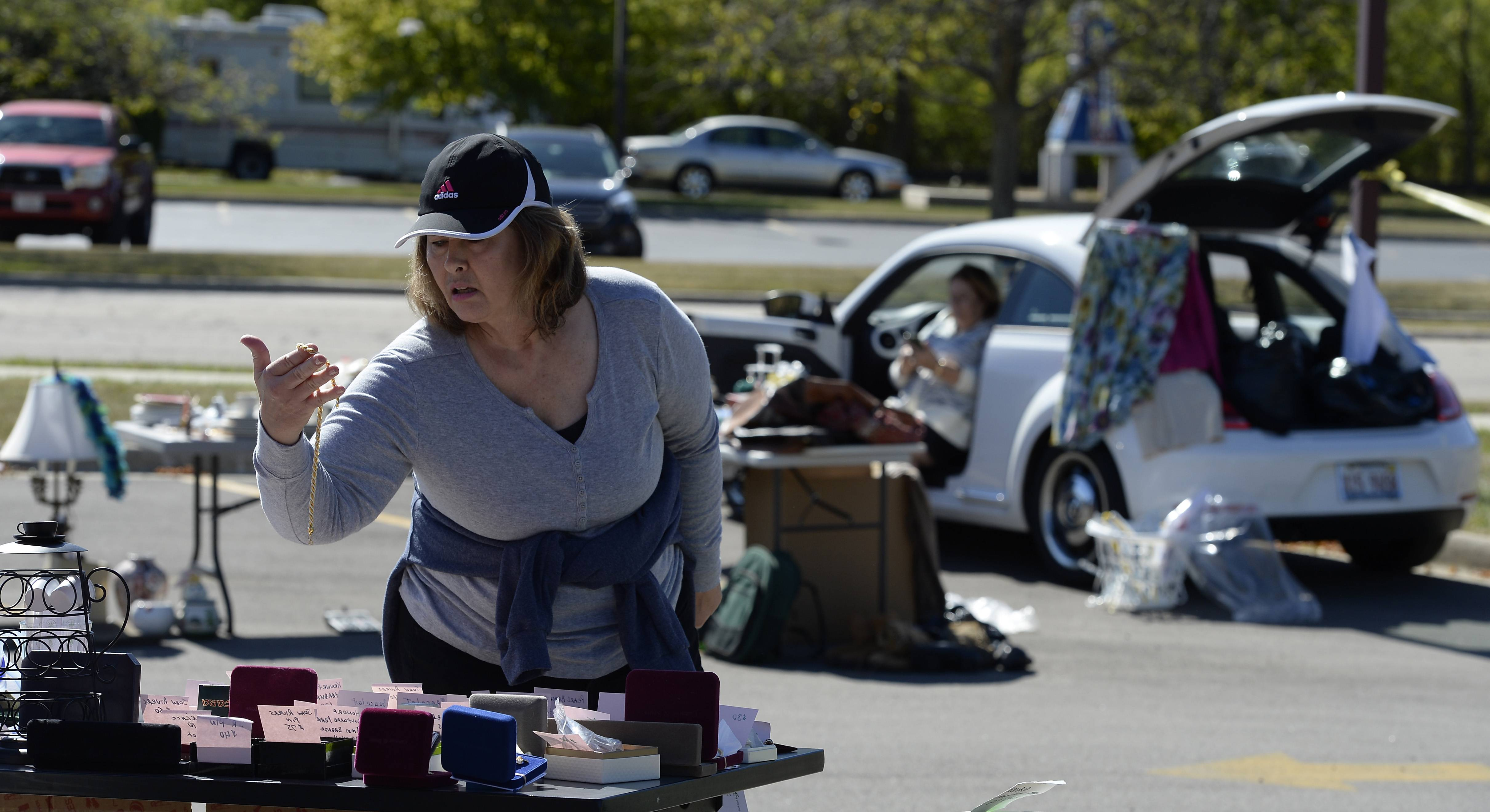 Members of The Ela Township 55 Plus group set up shop at the second Annual Trunk Sale Saturday. Participants sell items from their cars and trunks to help raise money for Team Ela Walking the Journey to End Alzheimer's.