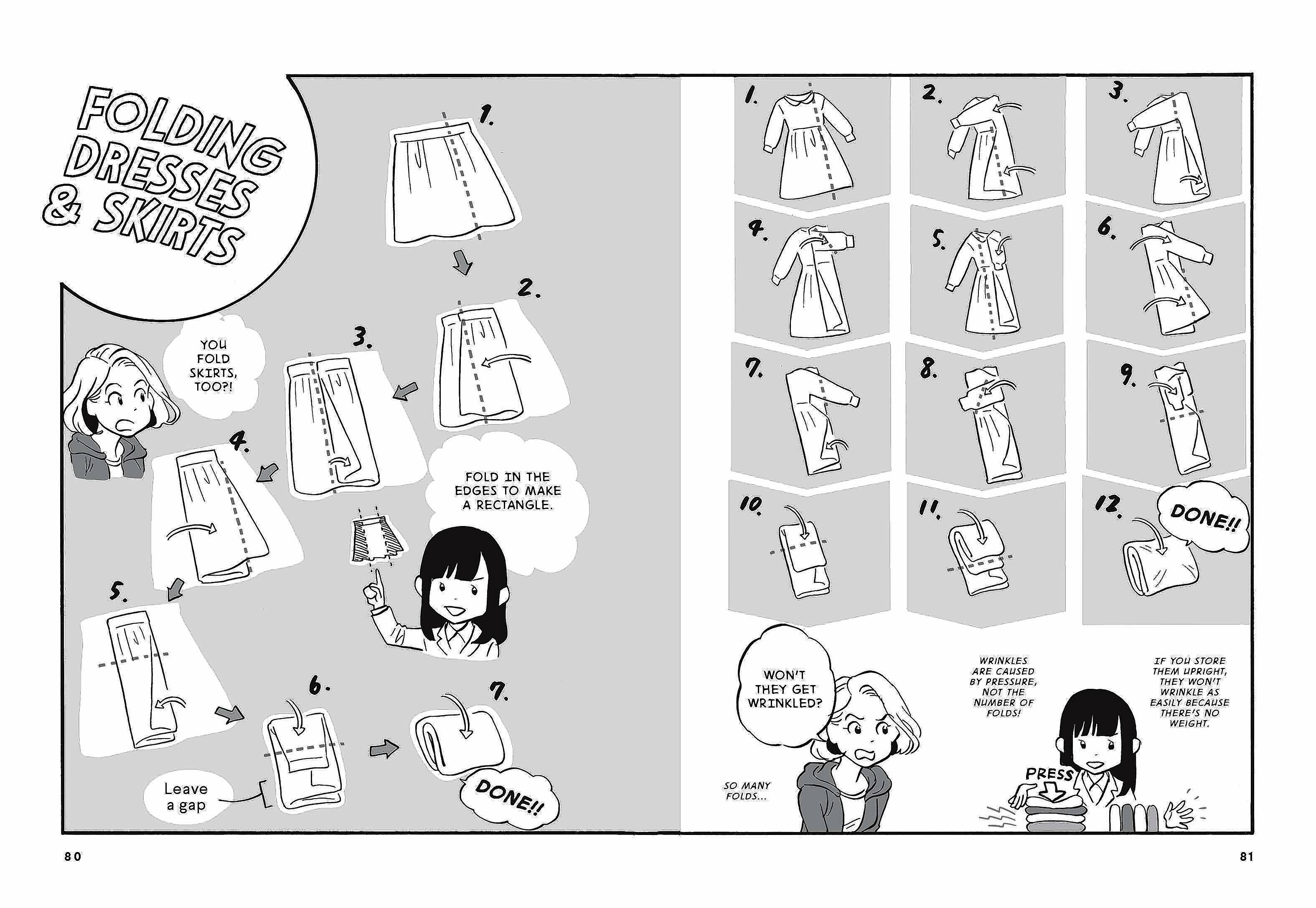 "Illustrations inside ""The Life-Changing Manga of Tidying Up."""