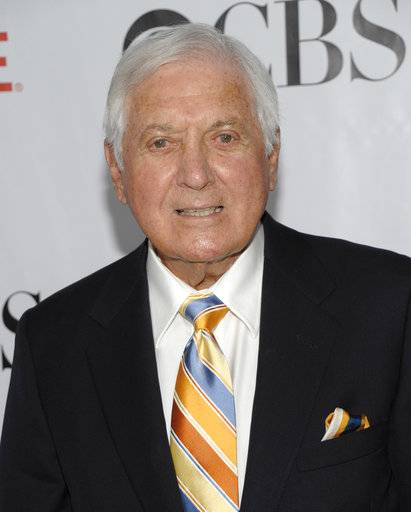 "FILE - In this Aug. 3, 2009 file photo, television personality Monty Hall arrives at the CBS CW Showtime Summer press tour party in San Marino, Calif. Former ""Let's Make a Deal"" host Hall has died after a long illness at age 96. His daughter Sharon Hall says he died Saturday, Sept. 30, 2017, at his home in Beverly Hills, Calif."