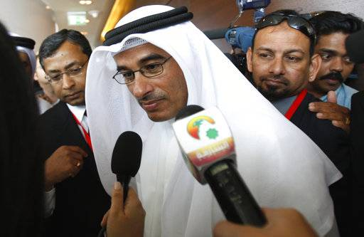 In this Jan. 4, 2010 file photo, Mohammed Alabbar speaks to journalists in Dubai, United Arab Emirates. The online retailer Noon.com has launched in the United Arab Emirates after months of delays, more than $1 billion in pledged investments and Amazon's entry into the market. The website went live without fanfare late Saturday night. It's led by Alabbar, the CEO of the state-backed real estate developer Emaar.