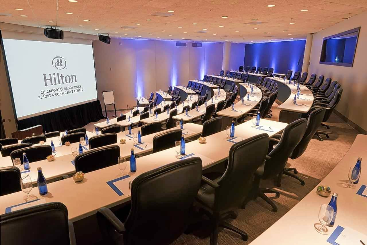 Hilton Oak Brook Hills Resort features 42,000 square feet of recently renovated certified meeting space.