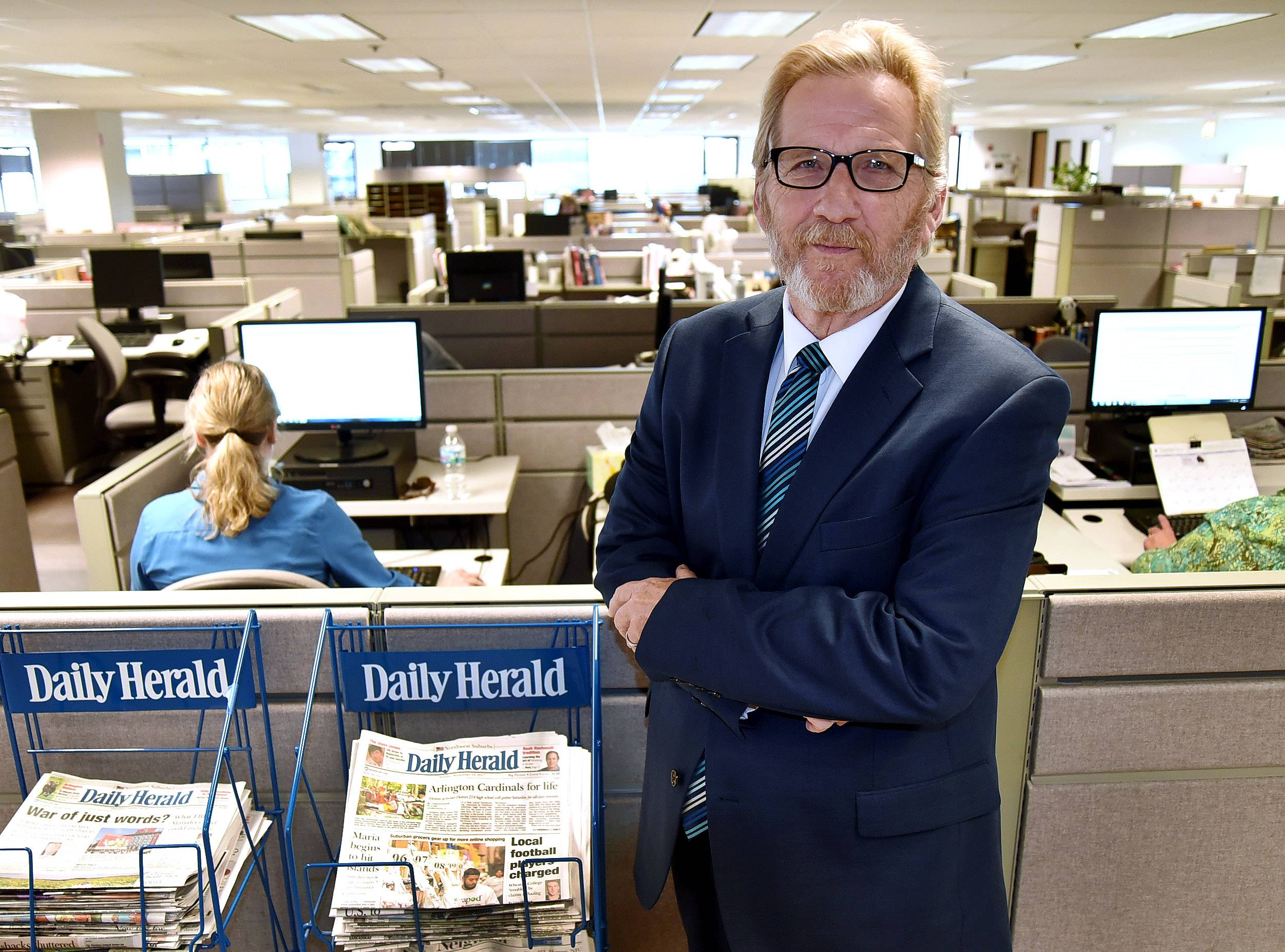 John Lampinen, Daily Herald editor and senior vice president, has spent most of his adult life with the paper.
