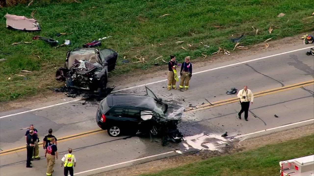 A 16-year-old Aurora Christian High School student was killed Tuesday in a crash that injured two others near Elburn, the Kane County sheriff's office said.