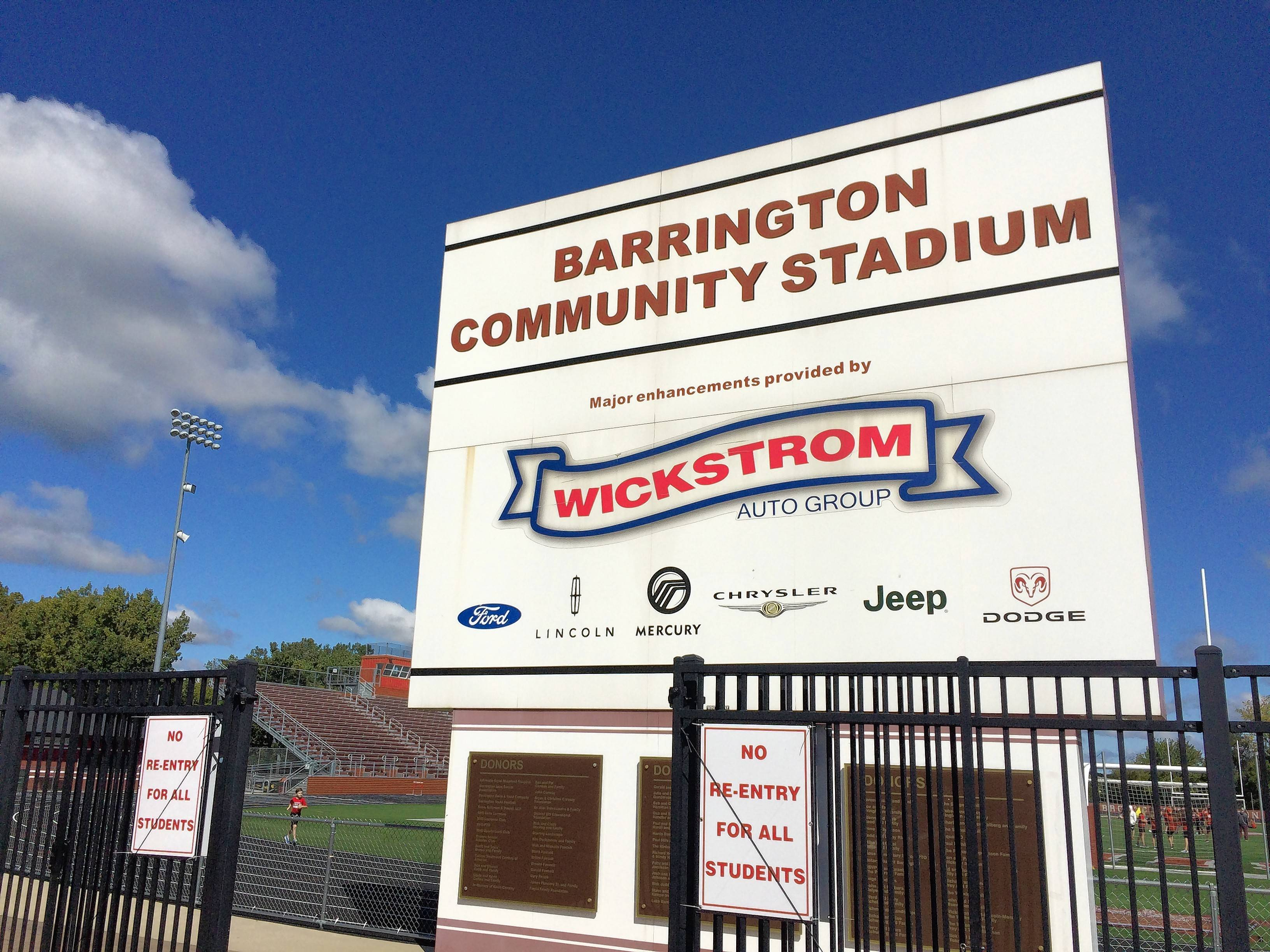 Another round of private contributions, including advertising and naming-rights deals, could help defray an estimated $920,000 in potential scoreboard and field renovation costs for Barrington High School's outdoor stadium, officials said.