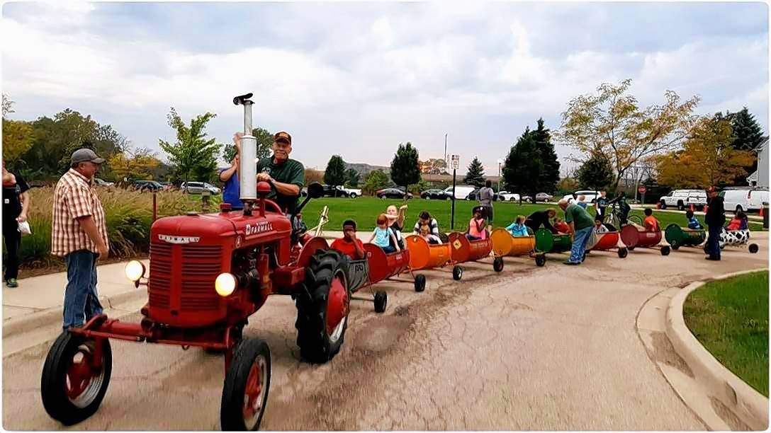 This weekend, the Lake County Farm Heritage Club will run a touch a tractor station and provide tractor barrel train rides at Fall on the Farm at Lambs Farm.