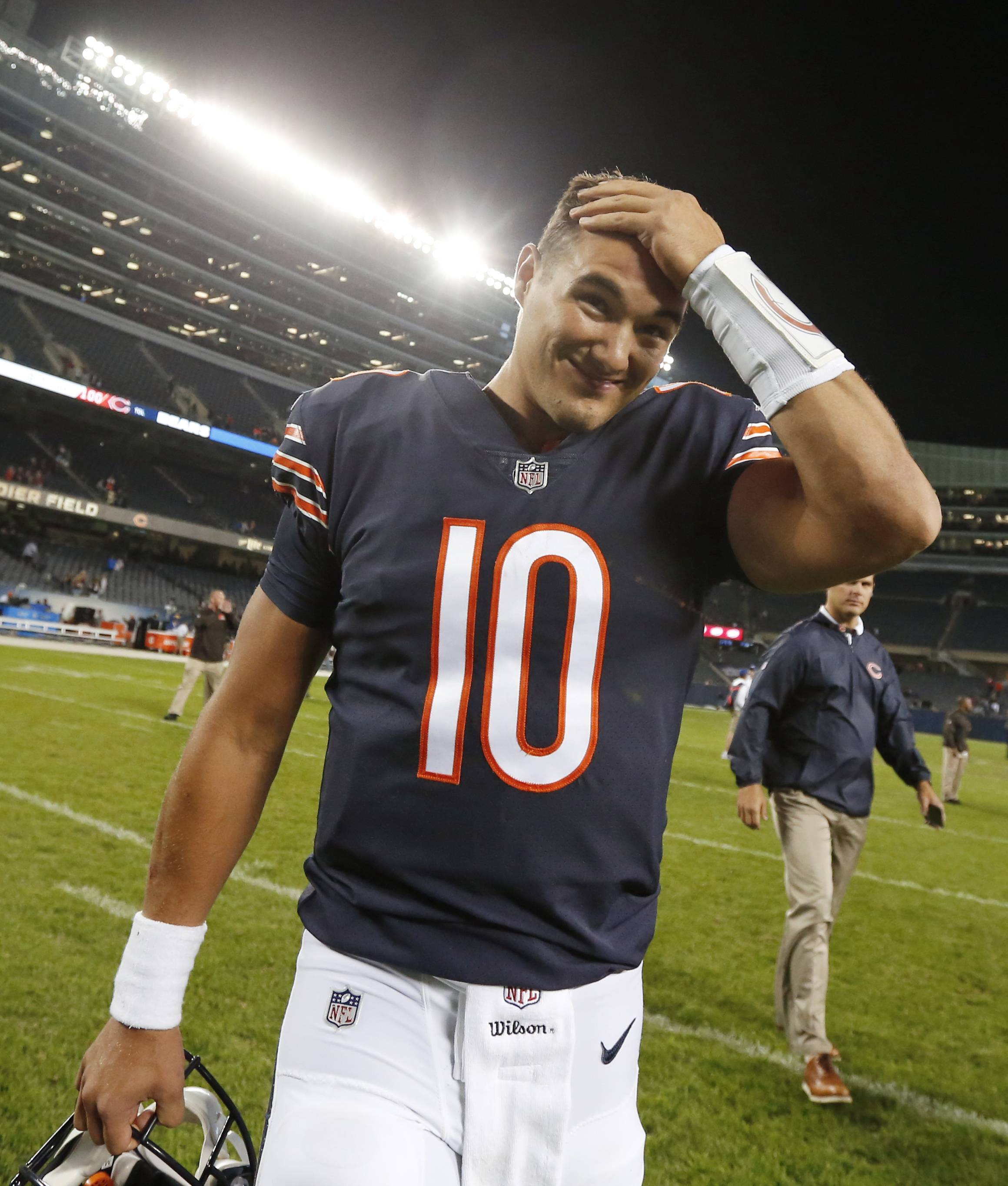 Trubisky knows he can lean on Chicago Bears teammates