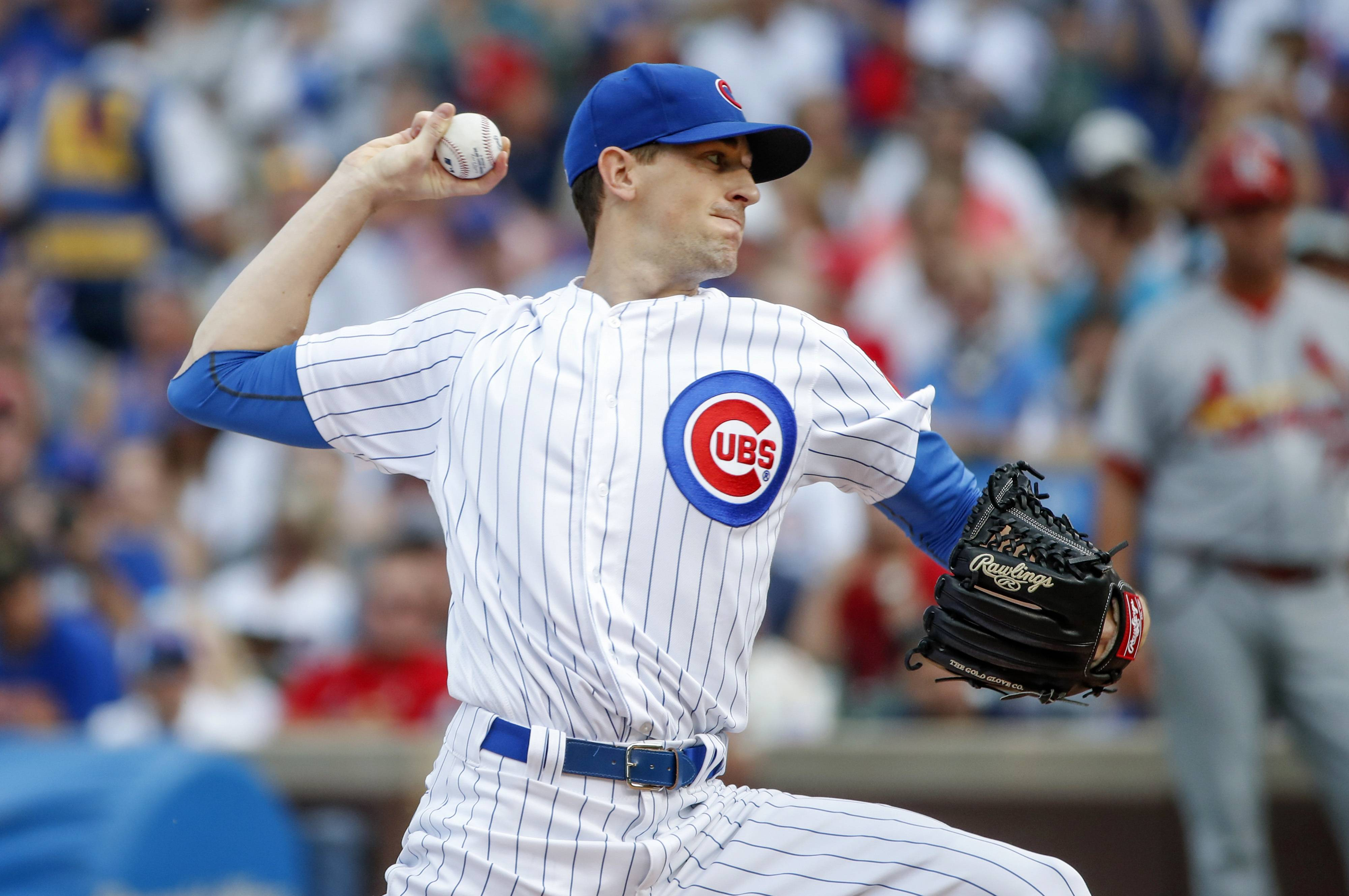 Chicago Cubs pitcher Kyle Hendricks will start Game 1 of the National League division series against the Washington Nationals.