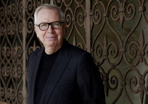 British architect David Chipperfield poses during the media launch of the Procuratie Vecchie buildings and the Royal Gardens restoration, in St Mark's square in Venice, Italy, Wednesday, Oct. 4, 2017. Chipperfield is bringing his expertise in restoring historic buildings to the 500-year-old Procuratie Vecchie building on the northern edge of St. Mark's Square, which will house a new initiative to help disadvantaged people around the globe.