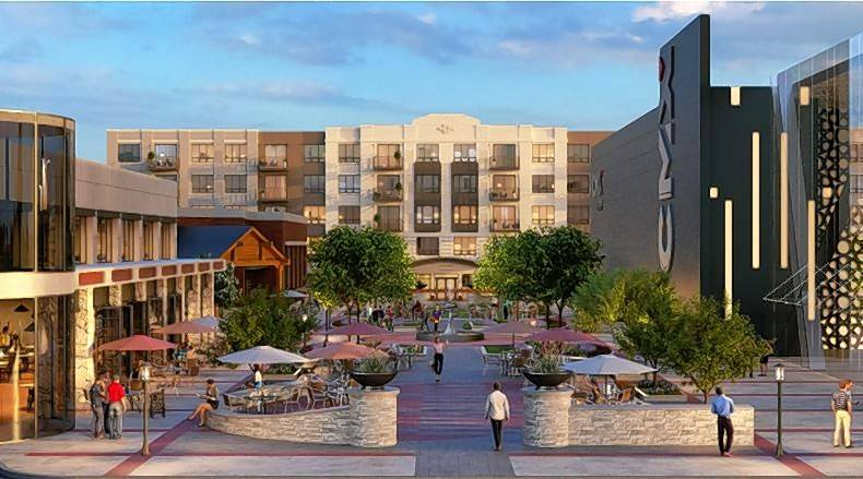 A rendering shows plans the Wheeling Town Center, which could be getting a diner, sandwich restaurant, bank and coffee shop.