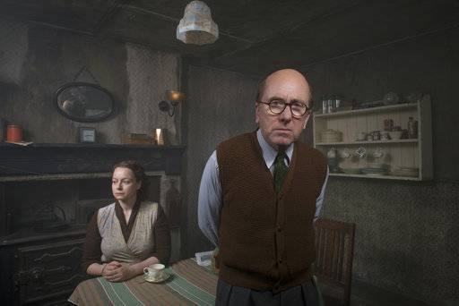 "This image released by AMC Networks shows Samantha Morton, left, and Tim Roth from the three-episode miniseries ""Rillington Place,� premiering Thursday on AMC Networks' premium streaming service Sundance Now. (Des Willie/AMC Networks via AP)"