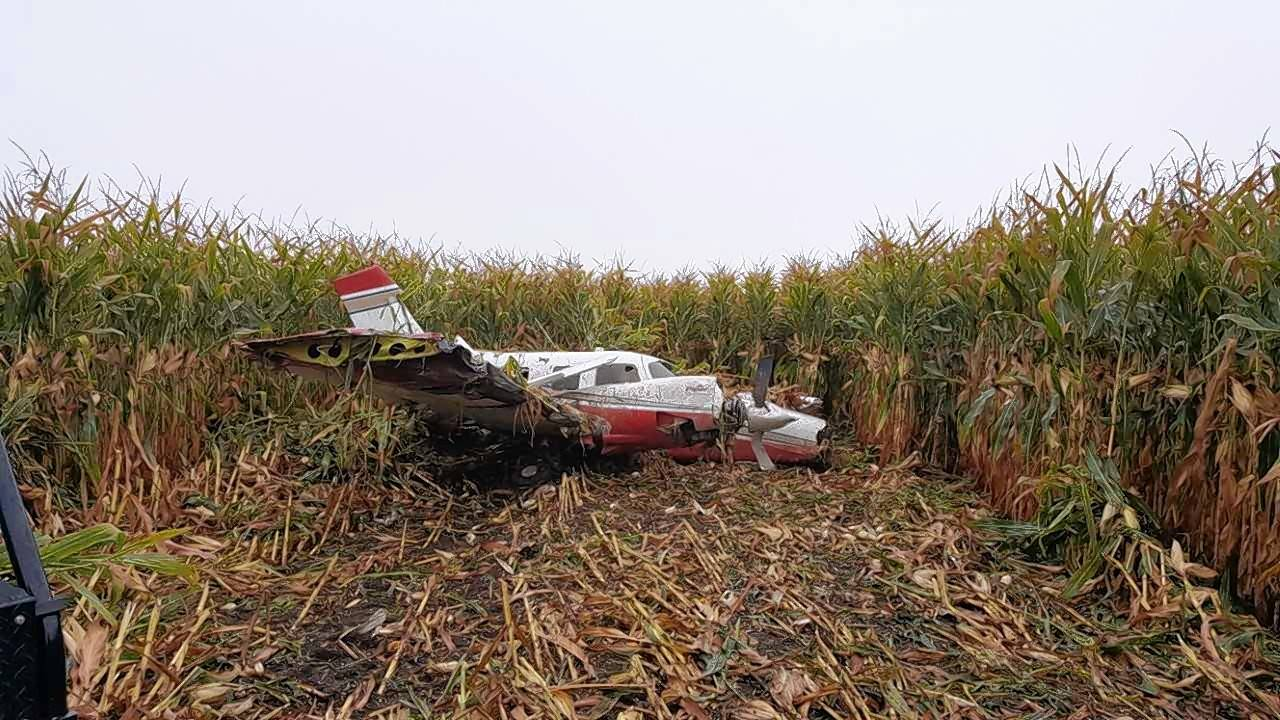 A Geneva couple were unharmed Friday morning after making an emergency landing in a cornfield near the Aurora Municipal Airport. Authorities said Edward and Carmella Bonifas were headed to Kansas before continuing to Arizona.