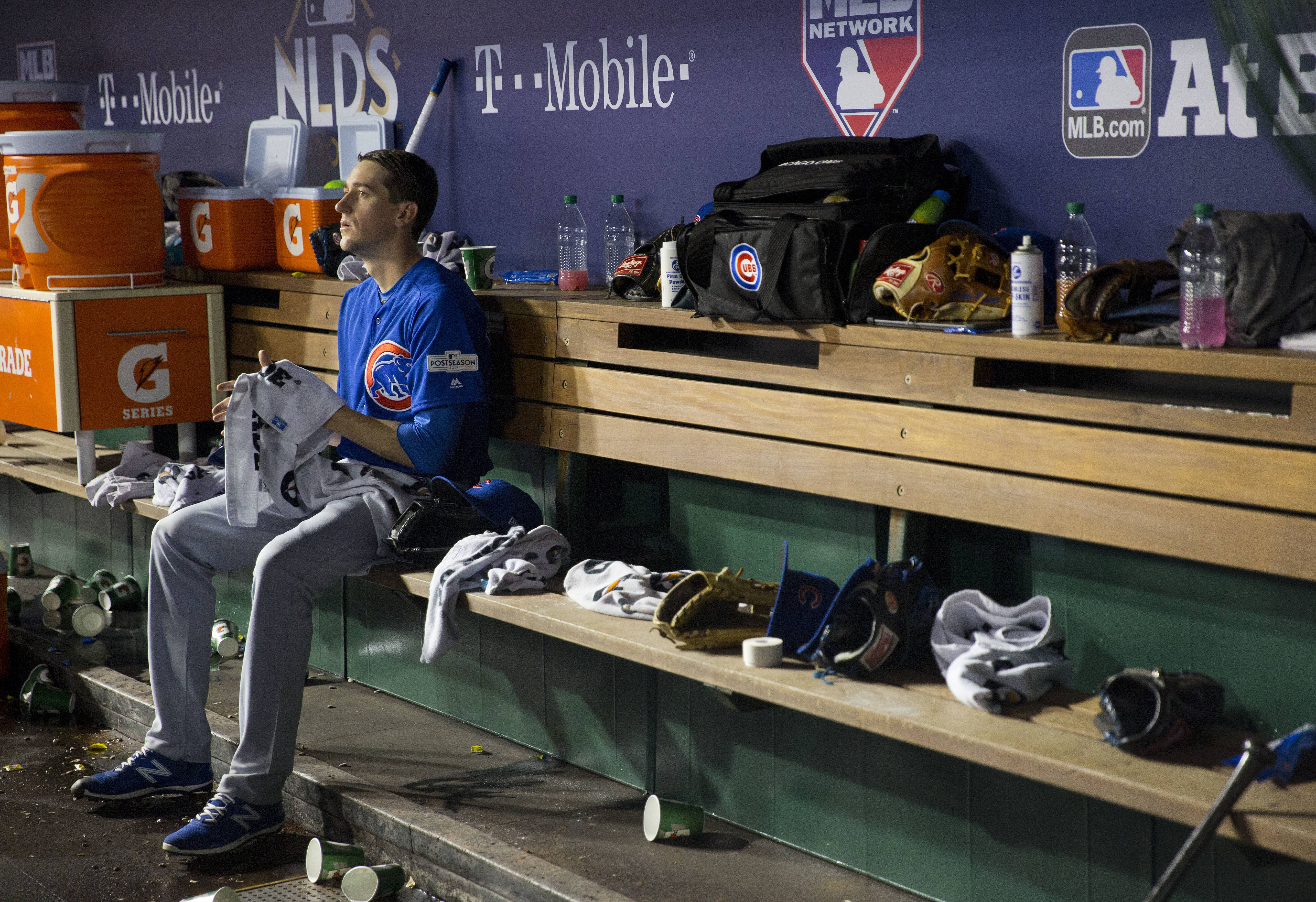 "on Friday night in D.C., Chicago Cubs pitcher Kyle Hendricks more than Washington Nationals and Stephen Strasburg can handle. ""This is as good as I've seen him,"" manager Joe Maddon said of Hendricks, attributing it to a bit more velocity."