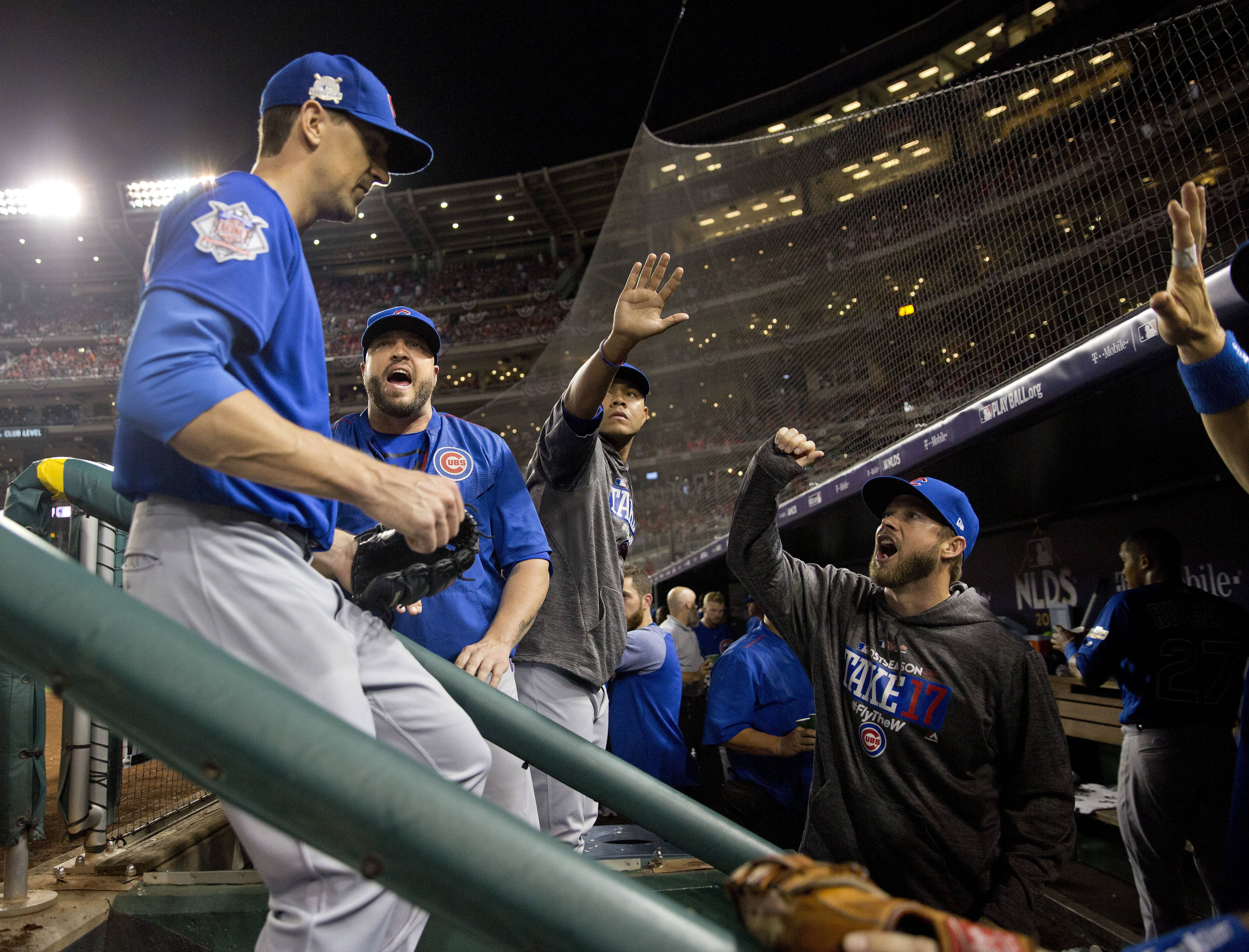Chicago Cubs starting pitcher Kyle Hendricks dueled Washington Nationals star Stephen Strasburg pitch for pitch Friday night. The Cubs took advantage of a break, and captured Game 1 of the National League division series 3-0 at Nationals Park.