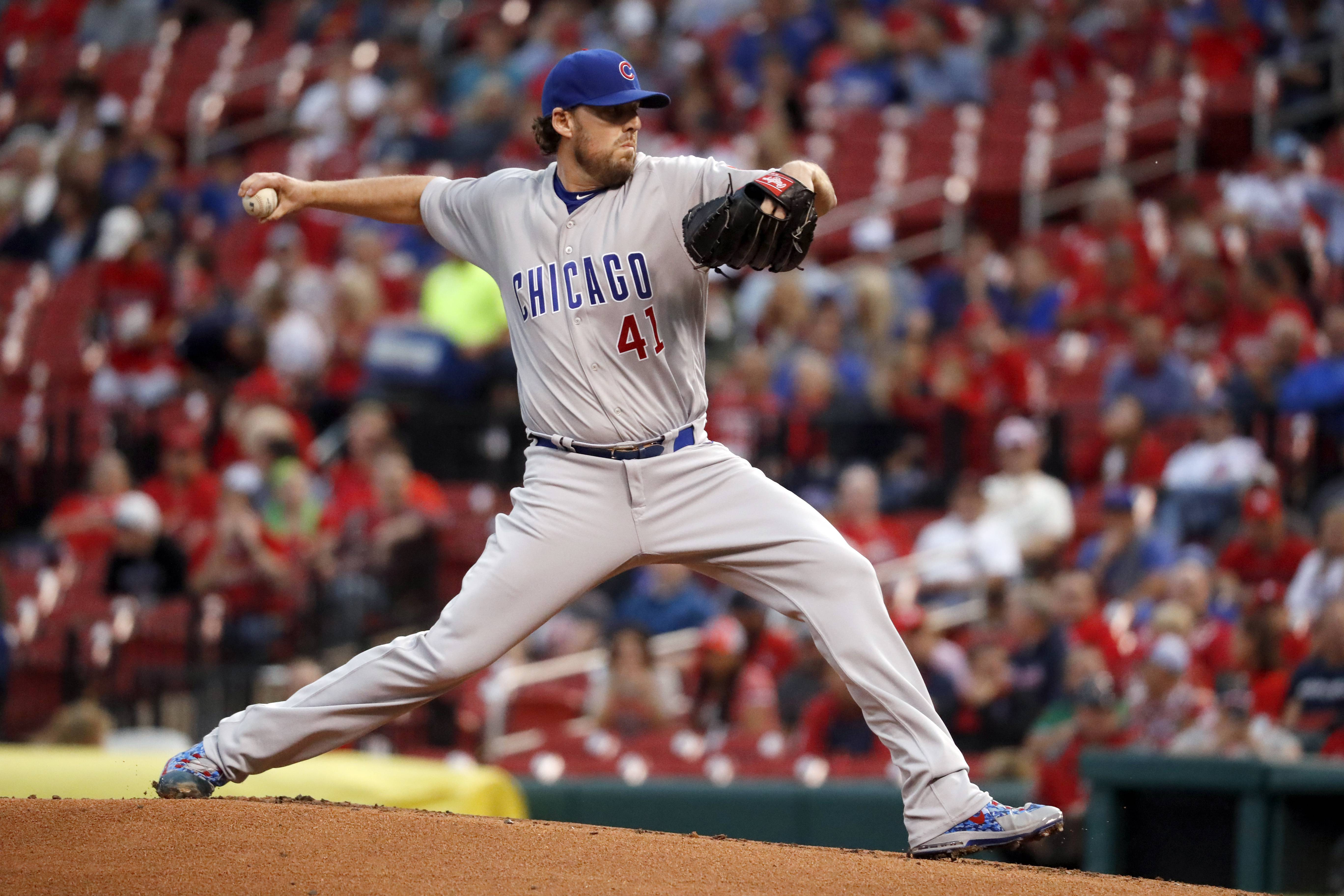 Veteran pitcher John Lackey has made the Chicago Cubs' roster for the National League division series against the Washington Nationals.