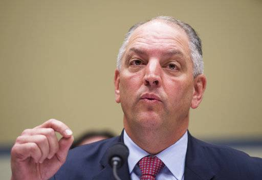 "FILE - In this Friday, Sept. 9, 2016, file photo, Louisiana Gov. John Bel Edwards testifies in on Capitol Hill in Washington, before the House Oversight and Government Reform subcommittee on Transportation and Public Assets hearing on FEMA's response to the flooding in Baton Rouge, La. Strengthening Tropical Storm Nate is sending U.S. Gulf Coast residents scrambling to prepare as hurricane warnings covered the region. Louisiana's Gov. Edwards urged his state's residents to take Nate seriously Friday, Oct. 6, 2017, saying the storm ""has the potential to do a lot of damage."""
