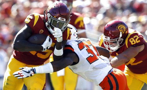 Darnold No 14 Usc Down Oregon State 38 10