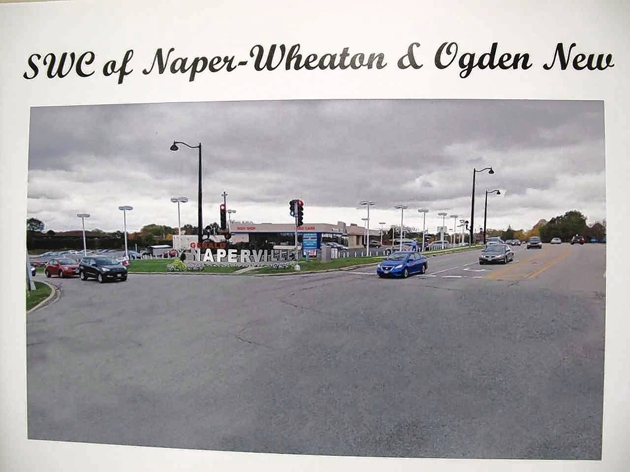 "Seven intersections along east Ogden Avenue from Washington Street to the eastern border of Naperville past Naper Boulevard could be in line for gateway signs with a large letter ""N"" or the city's full name. The city is exploring funding options for a set of streetscape improvements that are estimated to cost more than $5 million."