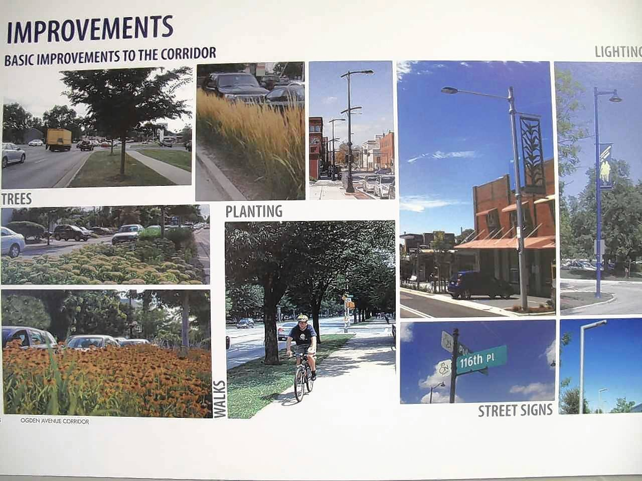 A set of streetscape improvements could rebrand the east Ogden Avenue corridor in Naperville into Uptown Naperville with new lighting, plantings, banners and signs.