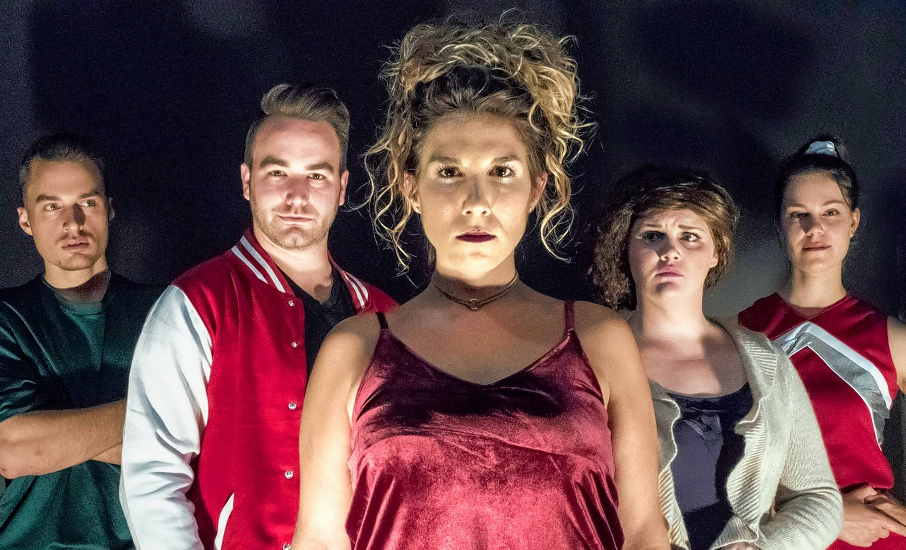 "Demi Zaino, center, of Lake Zurich, stars in Underscore Theatre Company's world premiere parody ""Carrie 2: The Rage,"" inspired by the Stephen King novella."