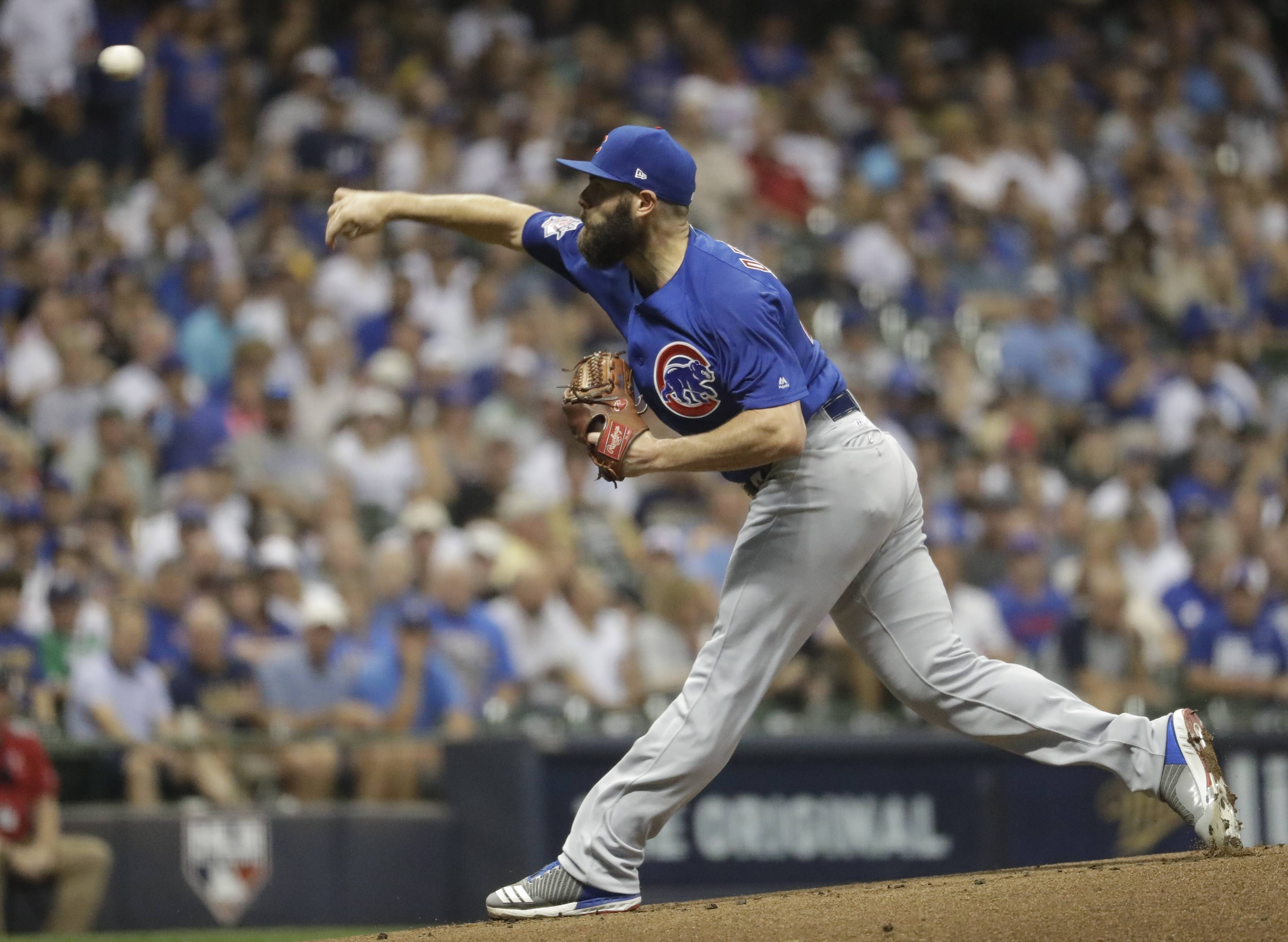 "Jake Arrieta says his strained right hamstring is ""100 percent,"" and he is looking forward to his start vs. the Washington Nationals Tuesday in Game 4 of the NLDS. Will it be Arrieta's last start for the Chicago Cubs?"