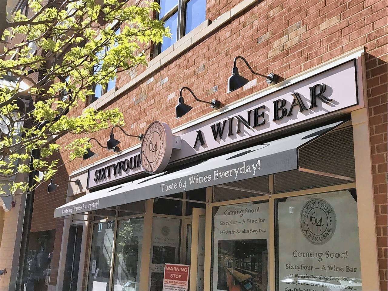 SixtyFour -- A Wine Bar is within easy walking distance of the Hotel Indigo in downtown Naperville.