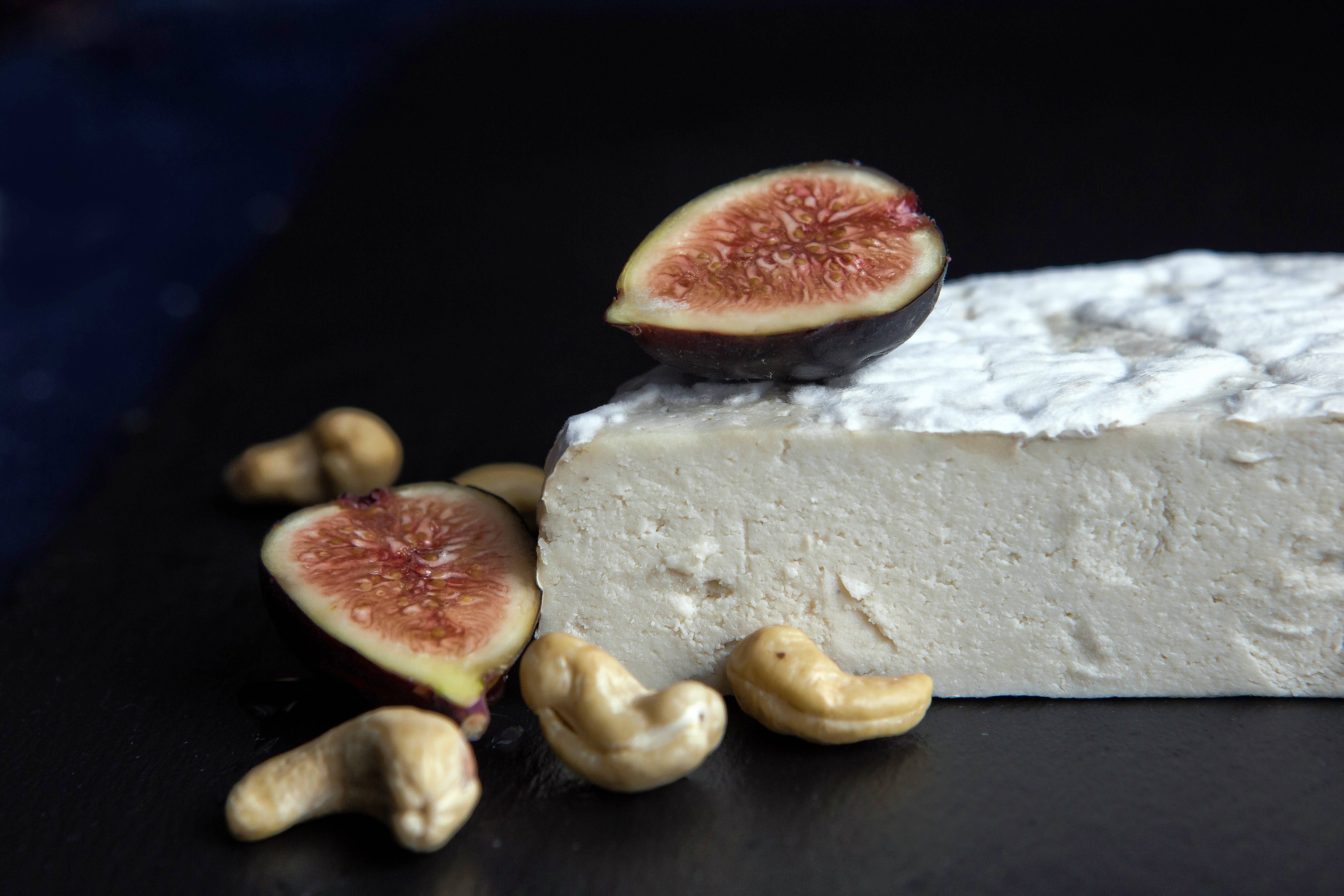 Vegan Aged Camembert Cheese. By using traditional cheese-making practices, including the addition of penicillium candidum — the agent that allows the vegan Camembert to grow a signature coating of mold — this nut-based version is surprisingly close to the original in flavor and appearance.