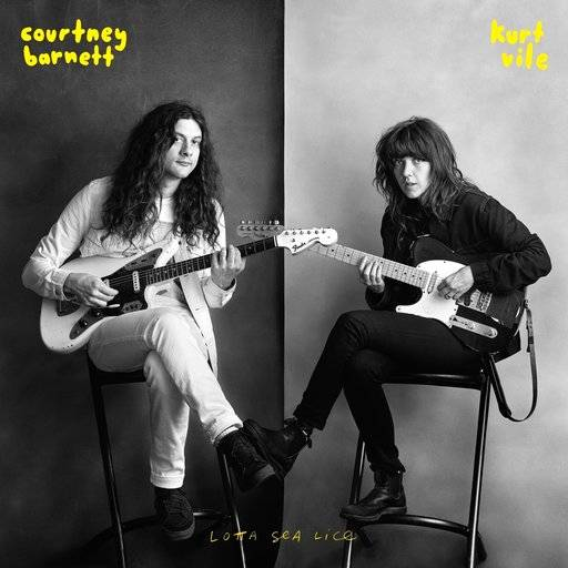 "This cover image released by Matador Records shows ""Lotta Sea Lice,"" the latest release by Courtney Barnett and Kurt Vile. (Matador Records via AP)"