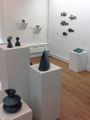 "A grouping of ceramics in the McHenry County College Student Ceramics Exhibition, ""Not Yet,"" features recent works from students with varying approaches. It is on display through Oct. 26 at the Woodstock Courthouse Satellite Gallery."