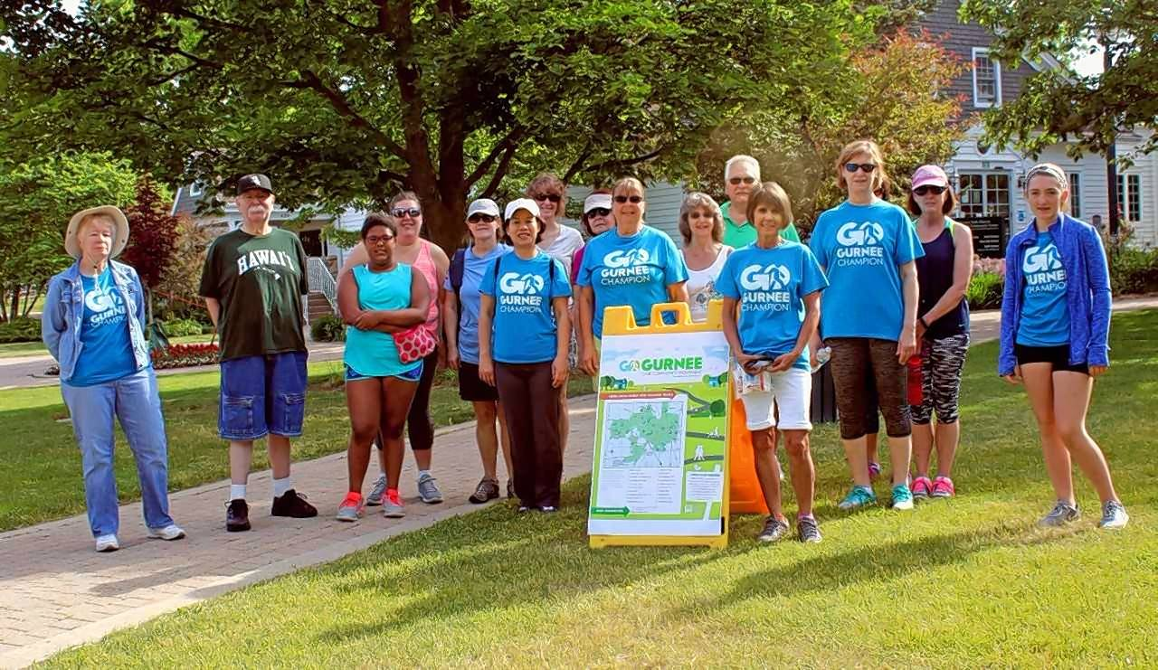 Committed walkers met last year at Viking Park for the first Gurnee GO walking club event.