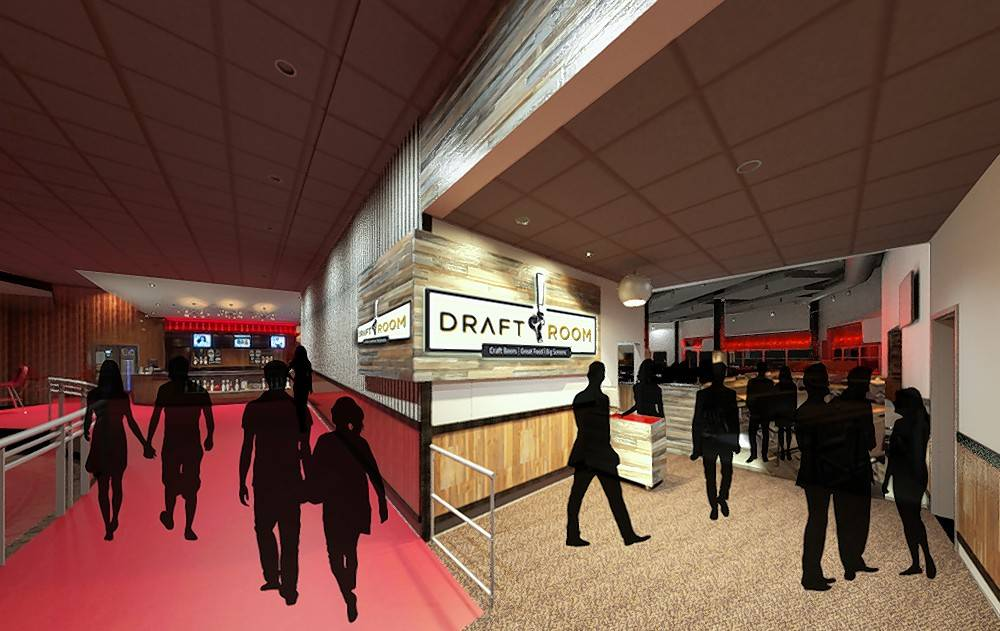 A 2,775-square-foot area at Kings Dining & Entertainment is being transformed into The Draft Room, expected to open in November.