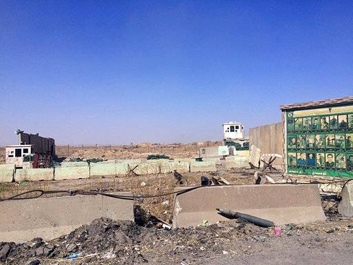 "The Hurriya airbase is abandoned after it was evacuated by Kurdish security forces, in Kirkuk, 290 kilometers (180 miles) north of Baghdad, Iraq, Monday, Oct. 16, 2017. Iraqi Kurdish officials said early Monday that federal forces and state-backed militias have launched a ""major, multi-pronged"" attack aimed at retaking Kirkuk, as fighting erupted just outside the disputed northern city. (AP Photo/Emad Matti)"