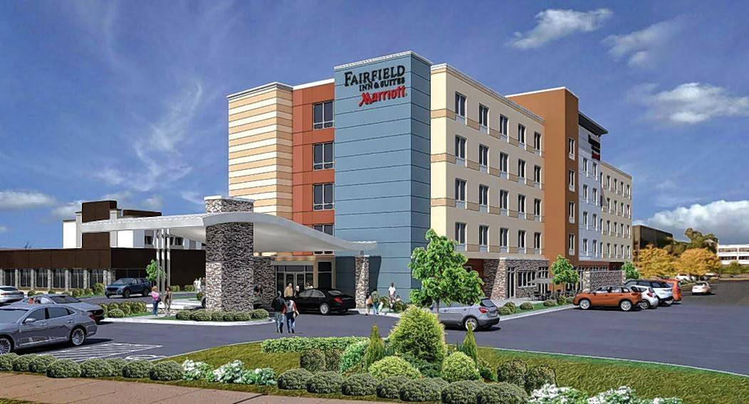 A rendering shows a proposed Fairfield Inn & Suites at 1450 E. Touhy Ave. in Des Plaines. City aldermen approved plans for the 137-room hotel Monday.