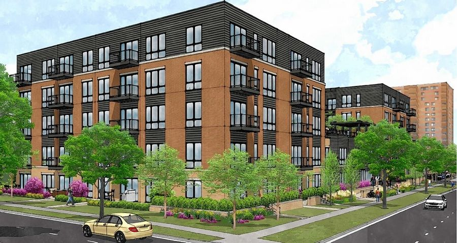 CA Ventures' proposal for a five-story, 88-unit apartment building on Sigwalt Street between Highland and Chestnut avenues was rejected by Arlington Heights trustees on Monday.