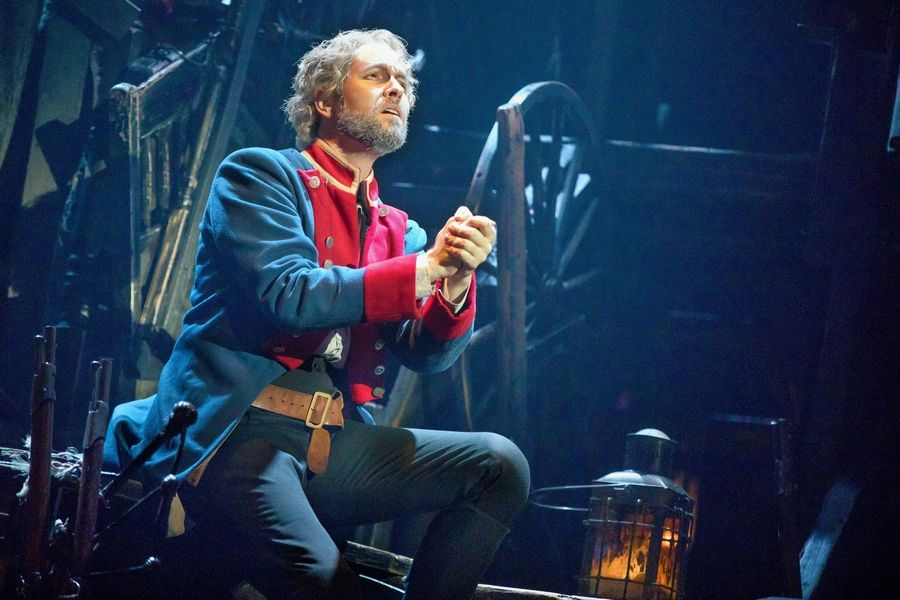 "Nick Cartell stars as Jean Valjean, a man harshly sentenced for a minor crime, in the splendid touring production of ""Les Miserables"" at Chicago's Cadillac Palace Theatre."